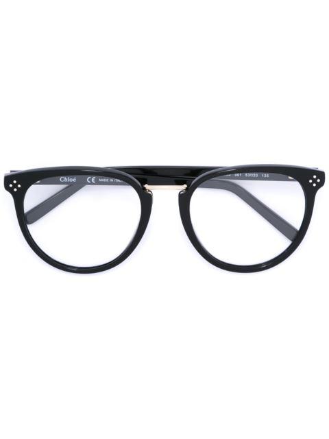 ChloÉ Oval Frame Glasses In Black