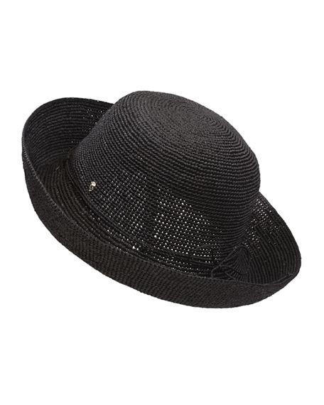 Helen Kaminski Provence Raffia Hat In Charcoal