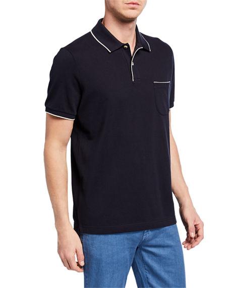 Loro Piana 2-button Regatta Polo Shirt In Blue