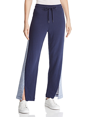 e1d630b055 Splendid Ryder Color-Block Terry Sweatpants In Navy Heathered Denim ...