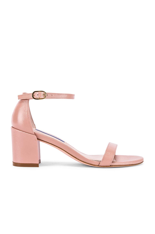 Stuart Weitzman Simple Sandal In Beige. In Buff Blush
