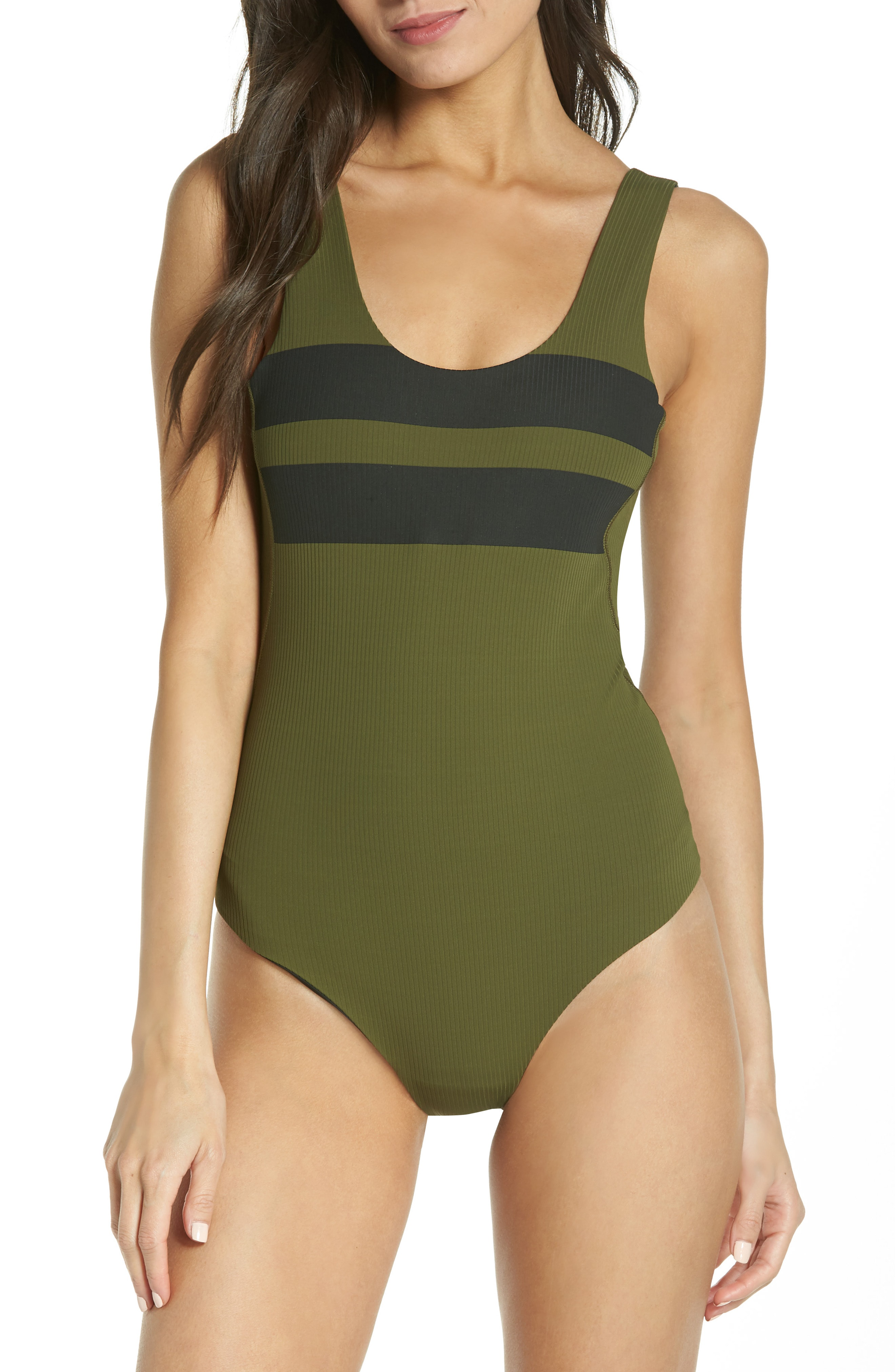 7bf07d72f9c Hurley Block Party Quick Dry Swim Bodysuit In Olive Canvas 395 ...