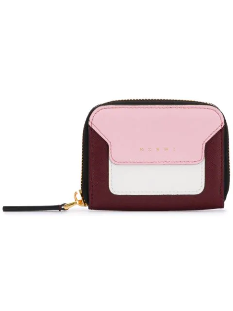 Marni Squared Zip-around Wallet In Purple