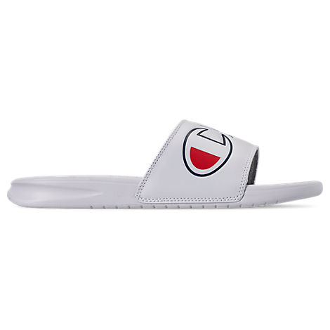 cffda0dd186 ... head to toe with the Men s Champion IPO Color Block Slide Sandals.  Whether you re heading to the pool or just chilling