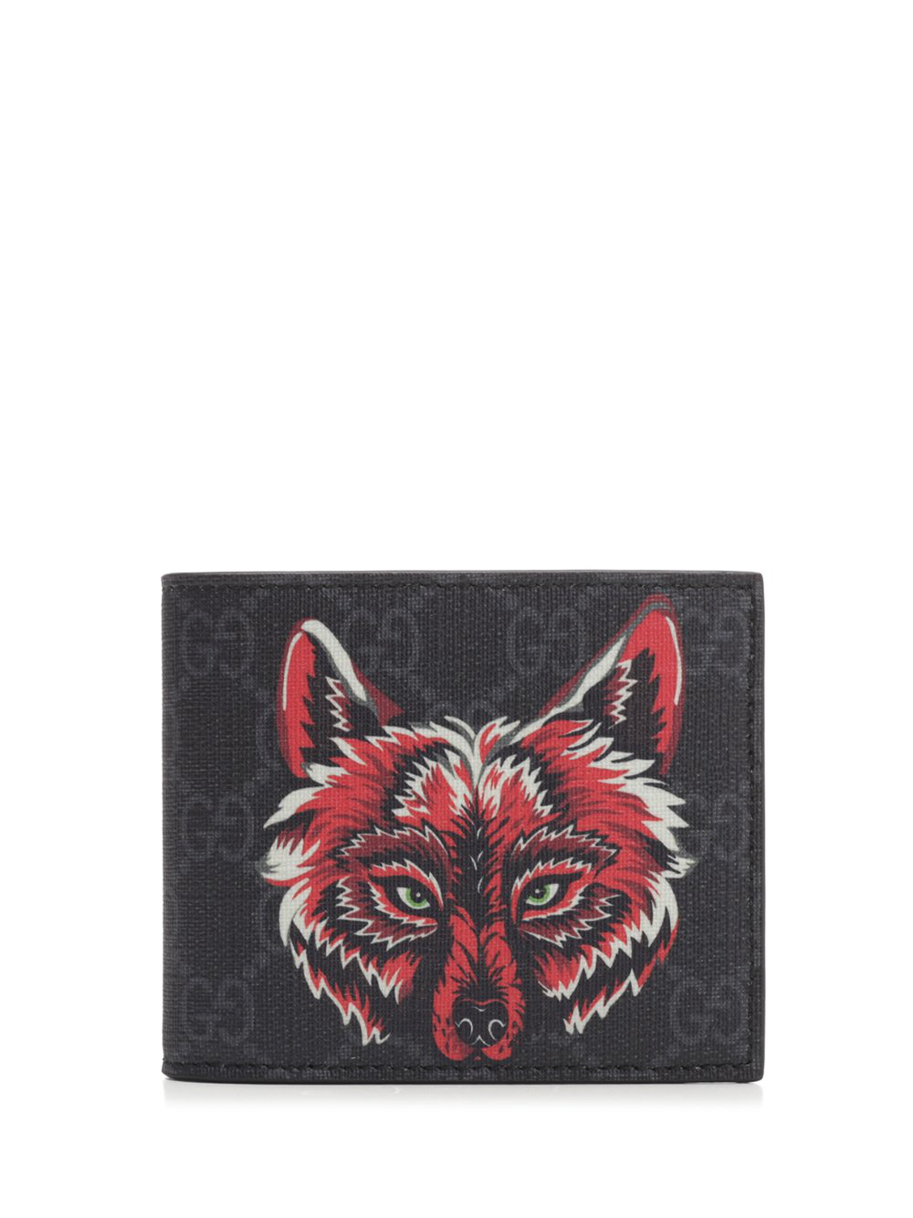 4bd424451053 Gucci Gg Supreme Wolf Wallet In Black | ModeSens