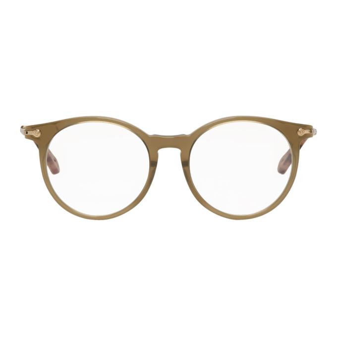 0ab53fde3f4 ChloÉ Chloe Khaki Horned Glasses In 303 Khaki