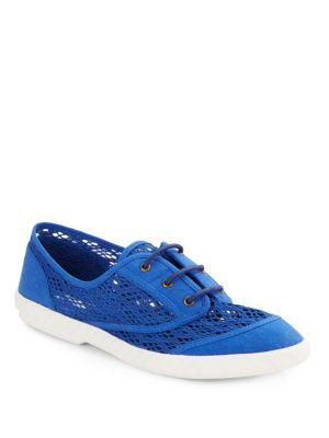 Diane Von Furstenberg Bea Lace-Up Sneakers In Blue