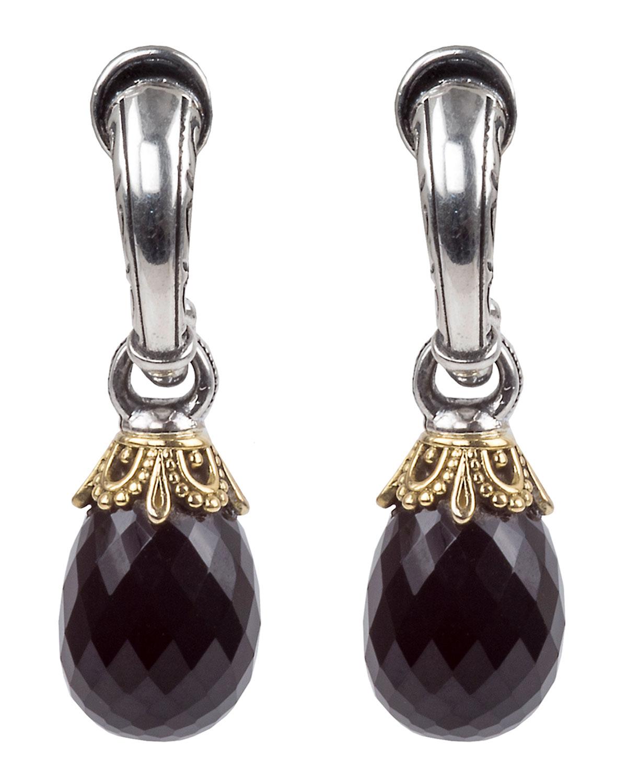 Konstantino Pythia Onyx Small Drop Earrings