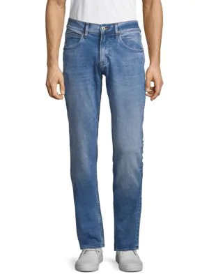 Hudson Slim Straight Jeans In Dawn Blue