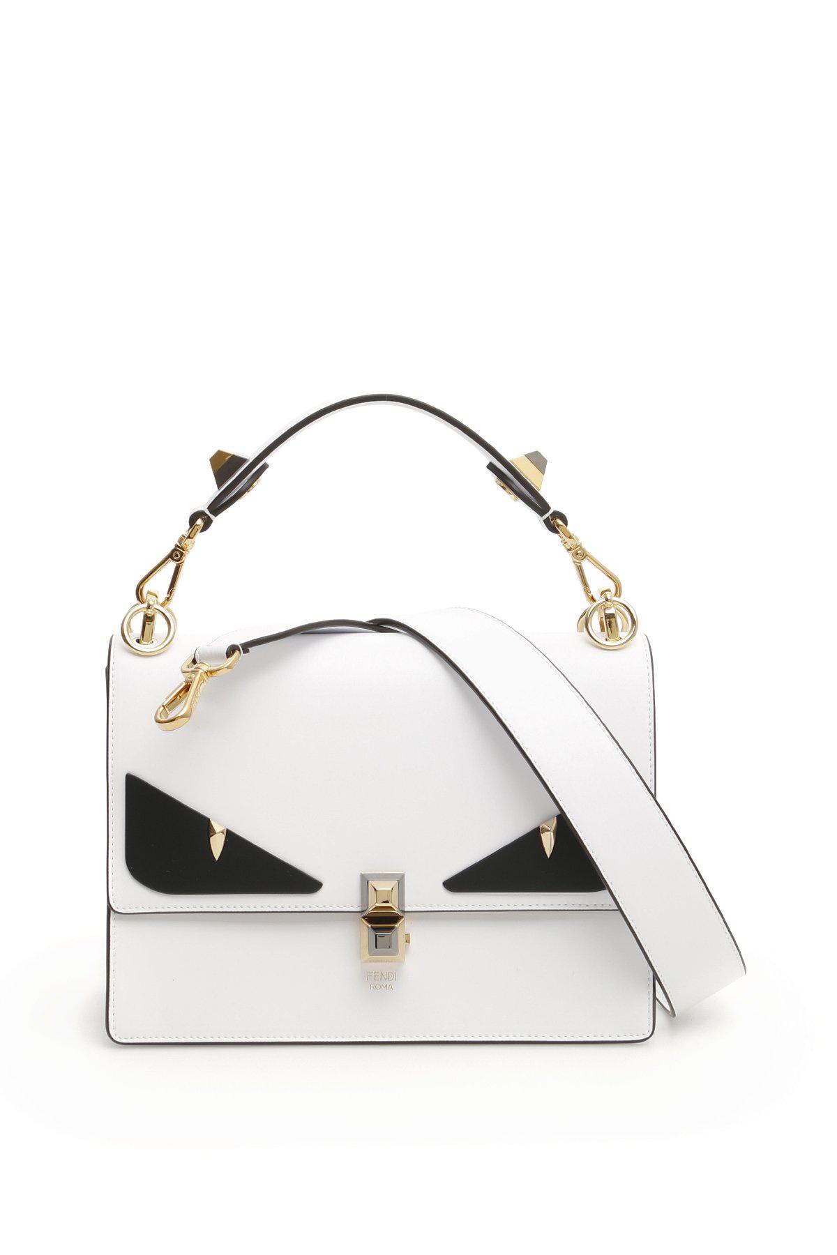77671aae70e4 Fendi Kan I Bag Bugs Bag In White