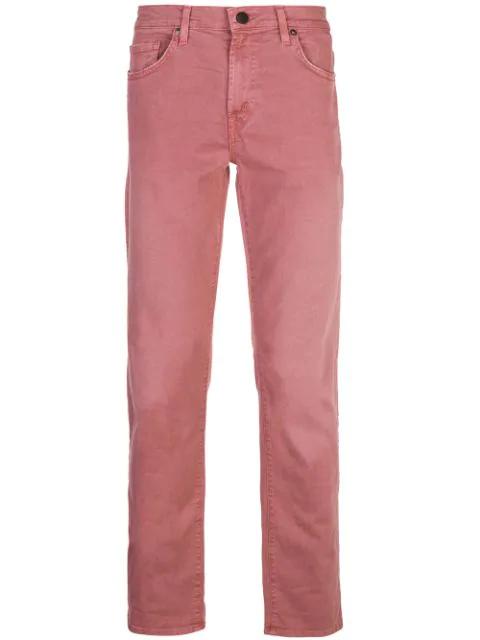 J Brand Tyler Slim Jeans In Red