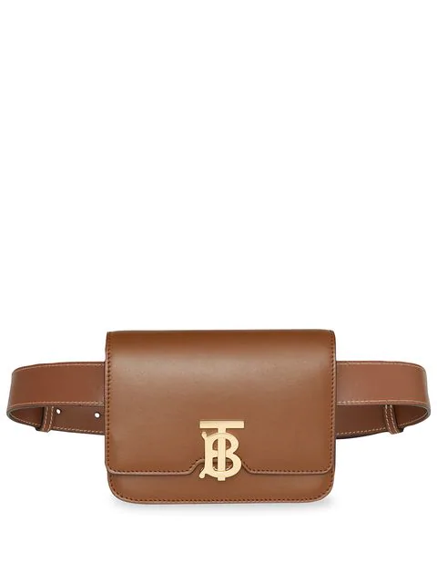 Burberry Tb Small Leather Belt Bag - Brown