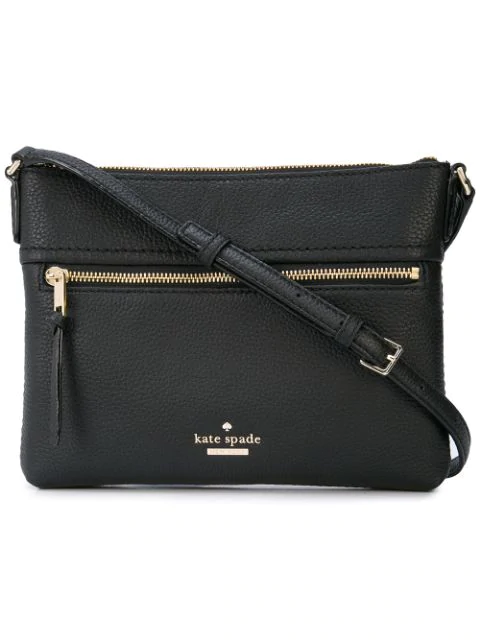 Kate Spade Jackson Street - Gabriele Leather Crossbody Bag - Black