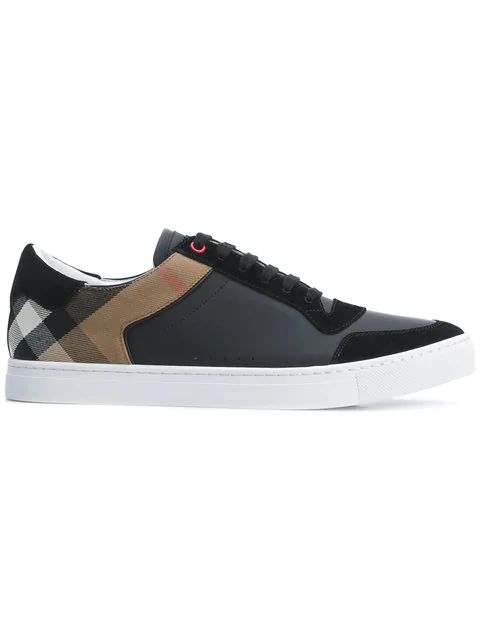 055274876a3 Burberry Men s Shoes Leather Trainers Sneakers Reeth Low In Black ...