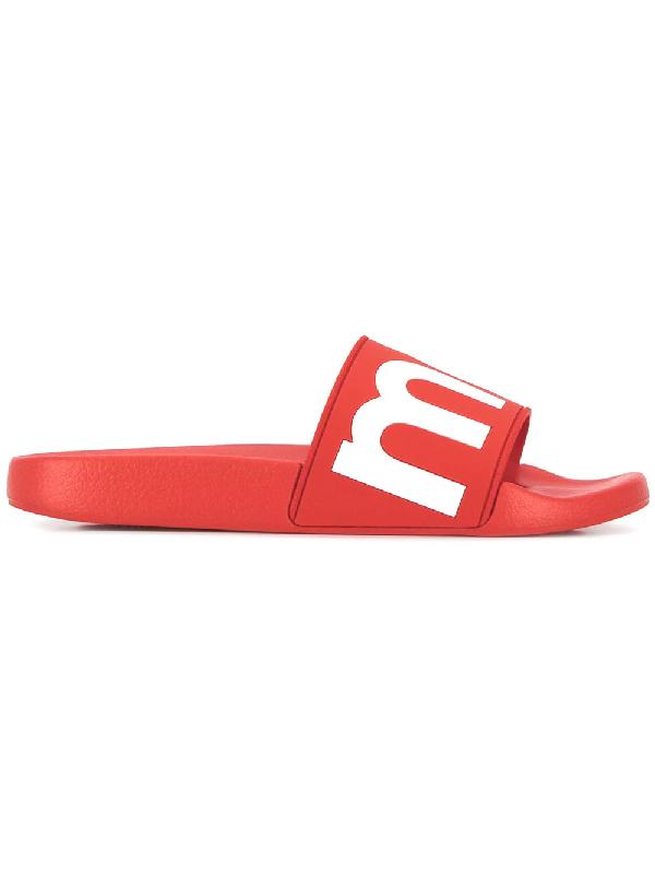 69bec72f7 Isabel Marant Howee Logo Rubber Slide Sandals In Red | ModeSens