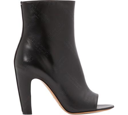 Maison Margiela Open Toe Heeled Ankle Boots In Black