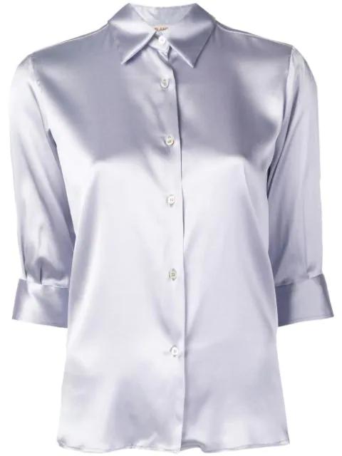 Blanca Slim-fit Shirt In Purple