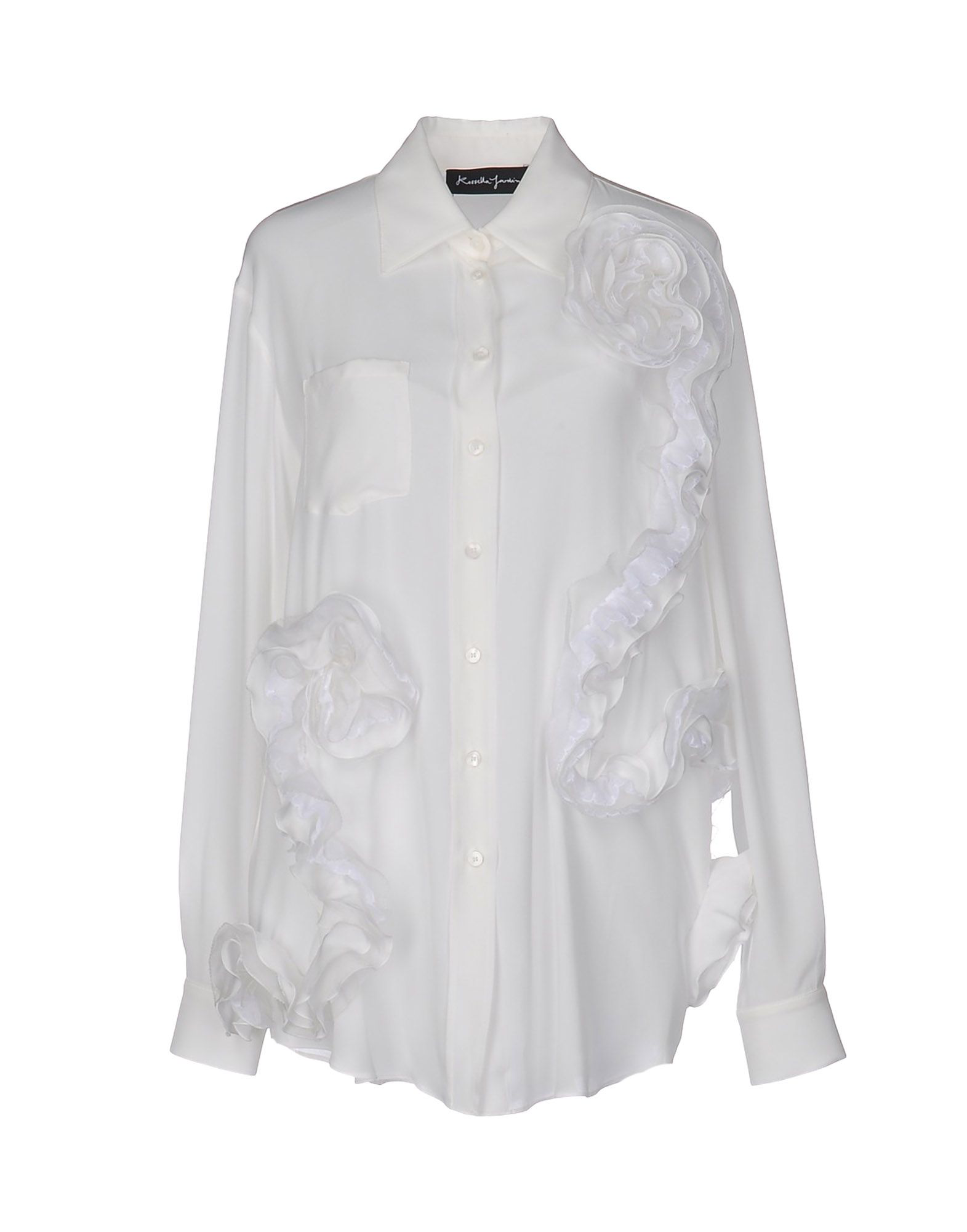 Rossella Jardini Silk Shirts & Blouses In White