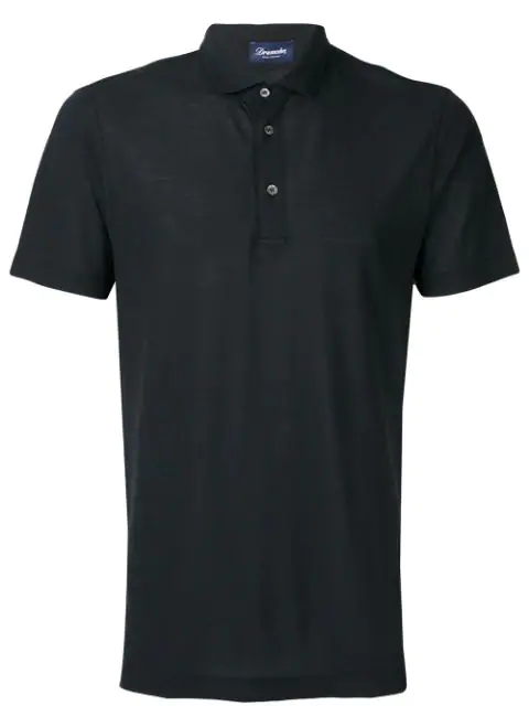 Drumohr Classic Polo Shirt In Black
