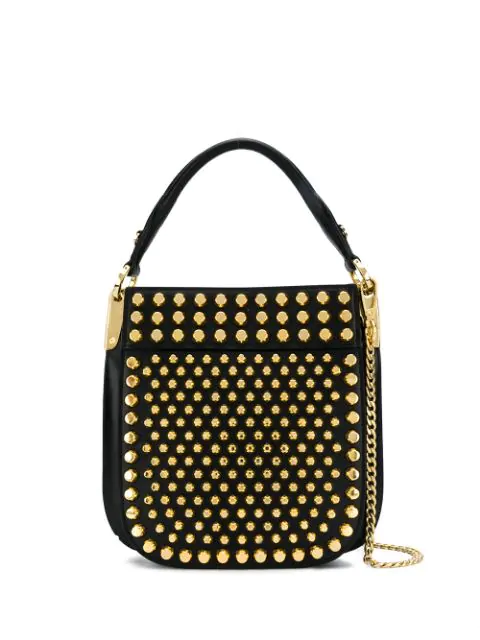 Prada Margit City Leather Top Handle Bag In Black