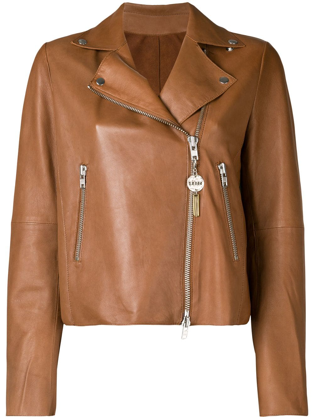 088a93f1df01 Cherry red leather cropped style biker jacket from S.W.O.R.D 6.6.44  featuring notched lapels