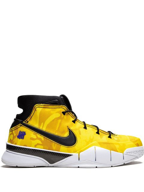 Nike X Undefeated Kobe 1 Protro Sneakers In Yellow