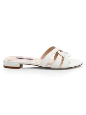 Stuart Weitzman Women's Cami Leather Sandals In White