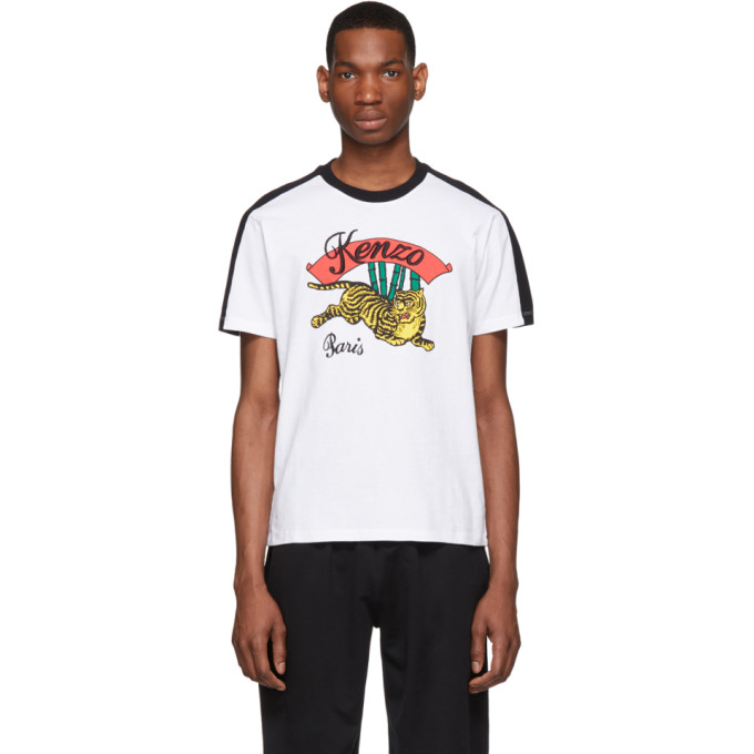 da1ea6d954 Kenzo White Bamboo Tiger T-Shirt in 01 White