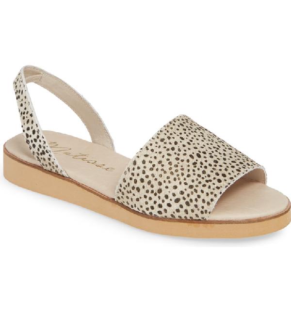 Matisse Easy Sandal In Dalmatian Calfhair