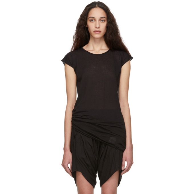 Rick Owens Drkshdw Black Short Sleeve T-shirt In 09 Black