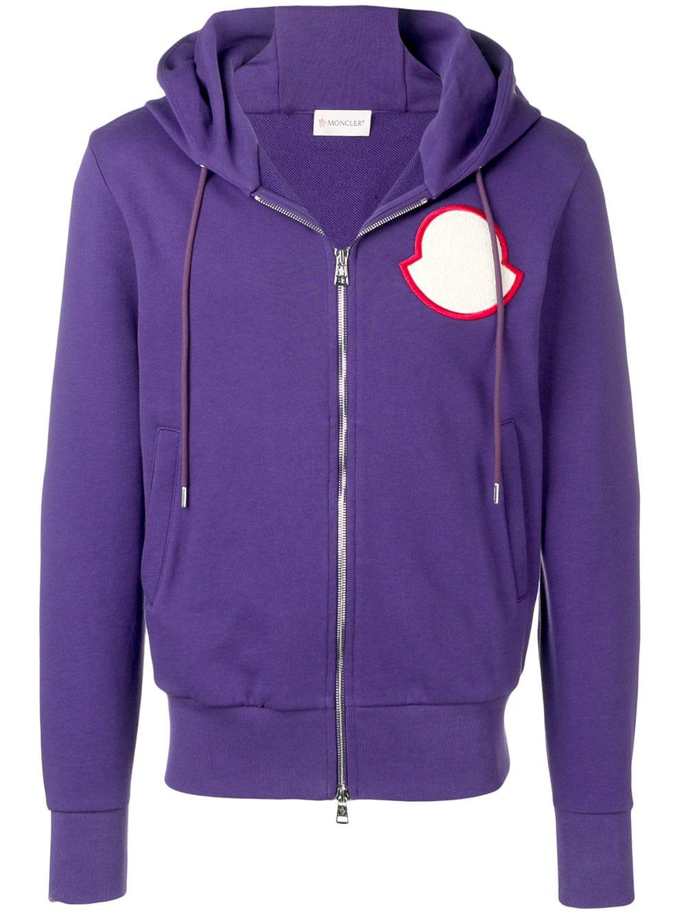 a80a66924ca4 Moncler Logo Patch Hoodie - Purple