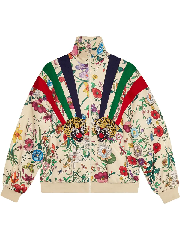 f1fc011059fc Gucci Chateau Marmont Floral Print Track Jacket In Neutrals | ModeSens