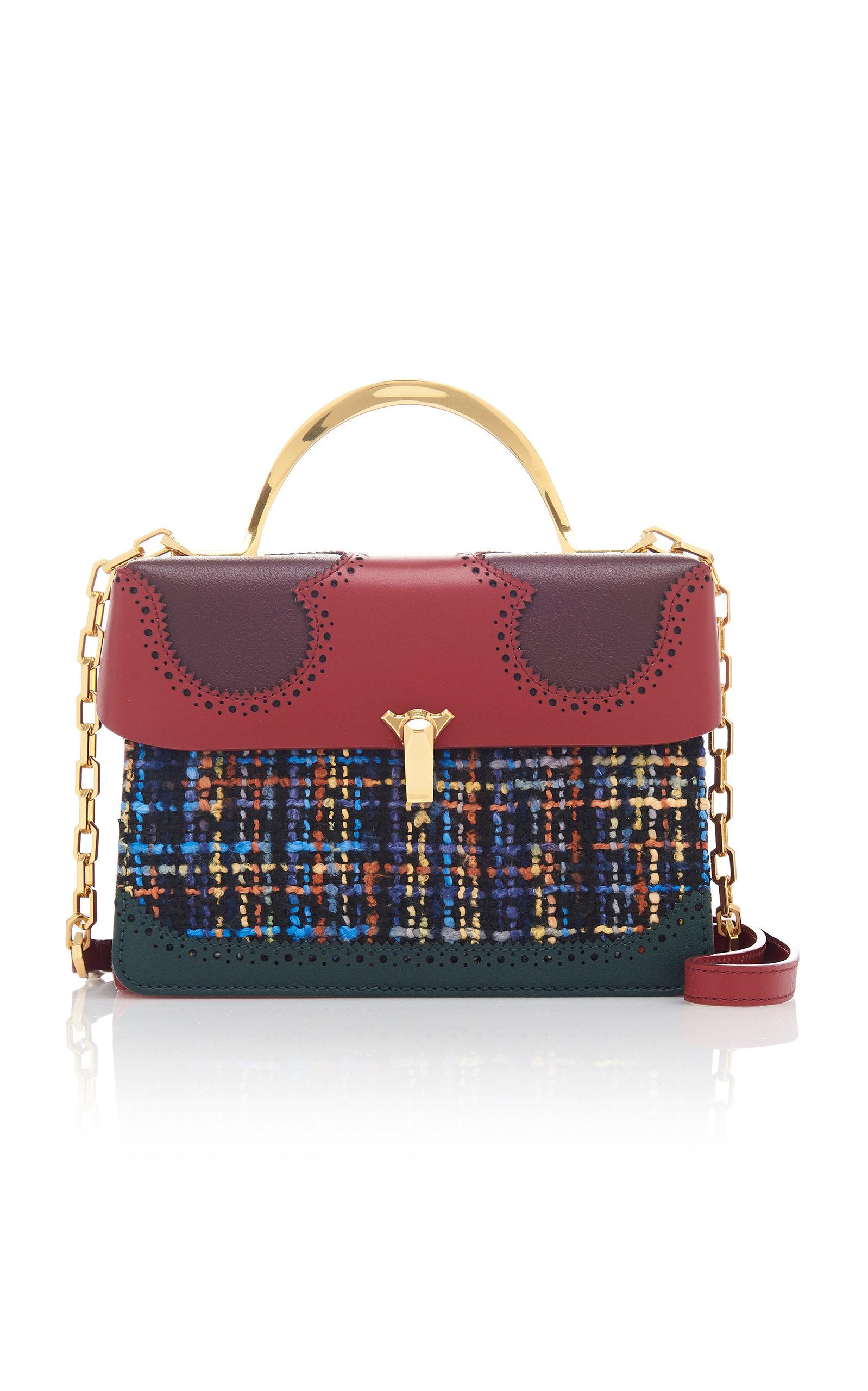 The Volon Alice Data 2 Tweed Bag In Multi
