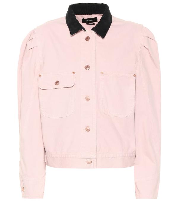 Isabel Marant Iolana Denim Jacket In Pink