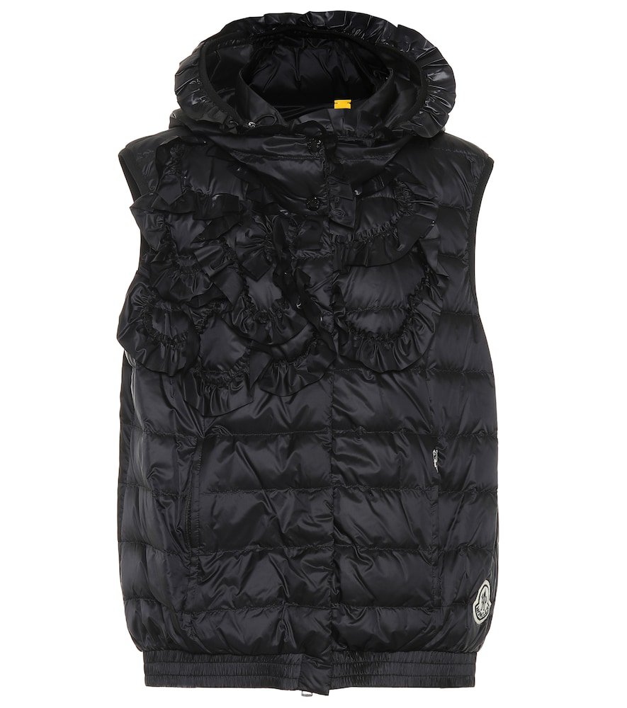 51f0d98e8 4 Moncler Simone Rocha Nerine Quilted Down Vest in Black