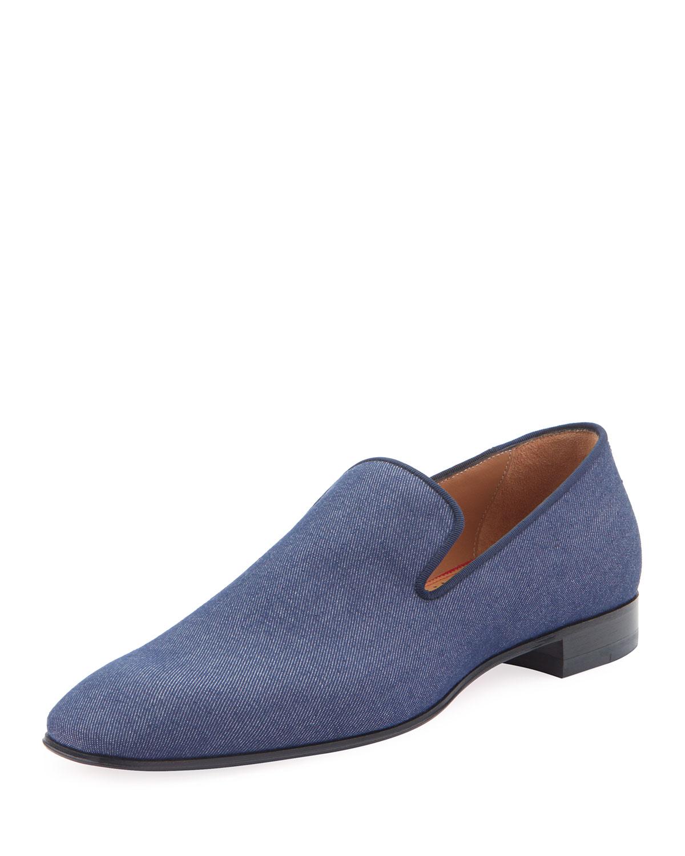 1e22aa70b01 Men's Dandelion Flat Denim Loafers in Blue