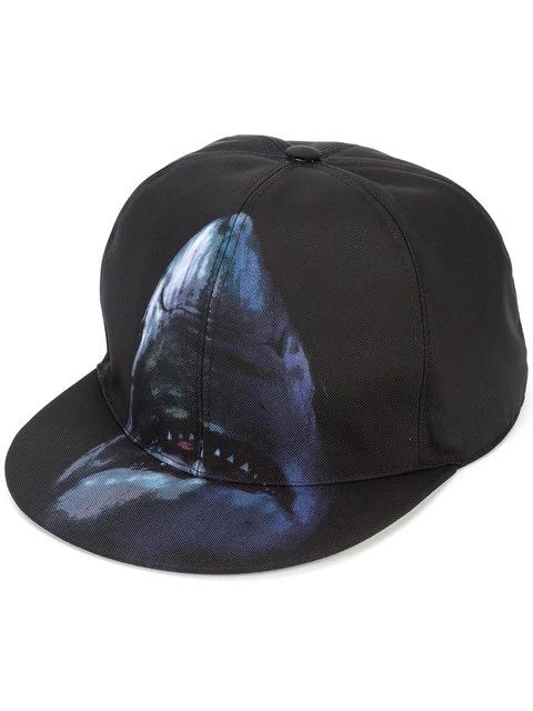 Givenchy Shark Print Cap In Black