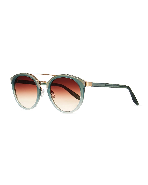 e21680381e1c Barton Perreira Dalziel Round Sunglasses With Metal Bar In Seafoam ...