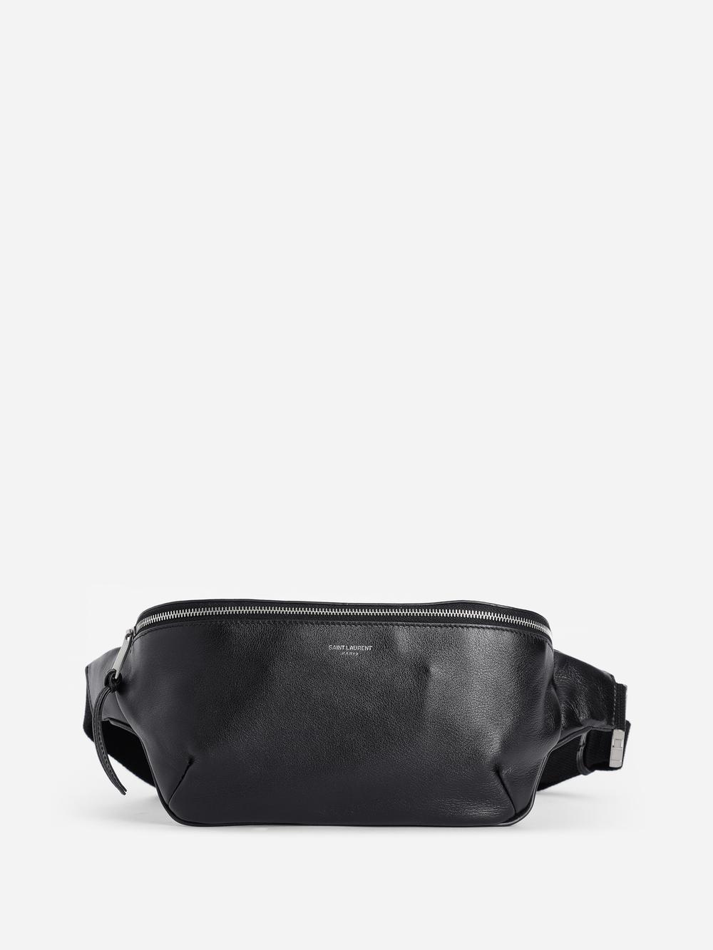 098a84b2d82 Saint Laurent Paris Men's Black Soft Leather Classic Belt Bag | ModeSens