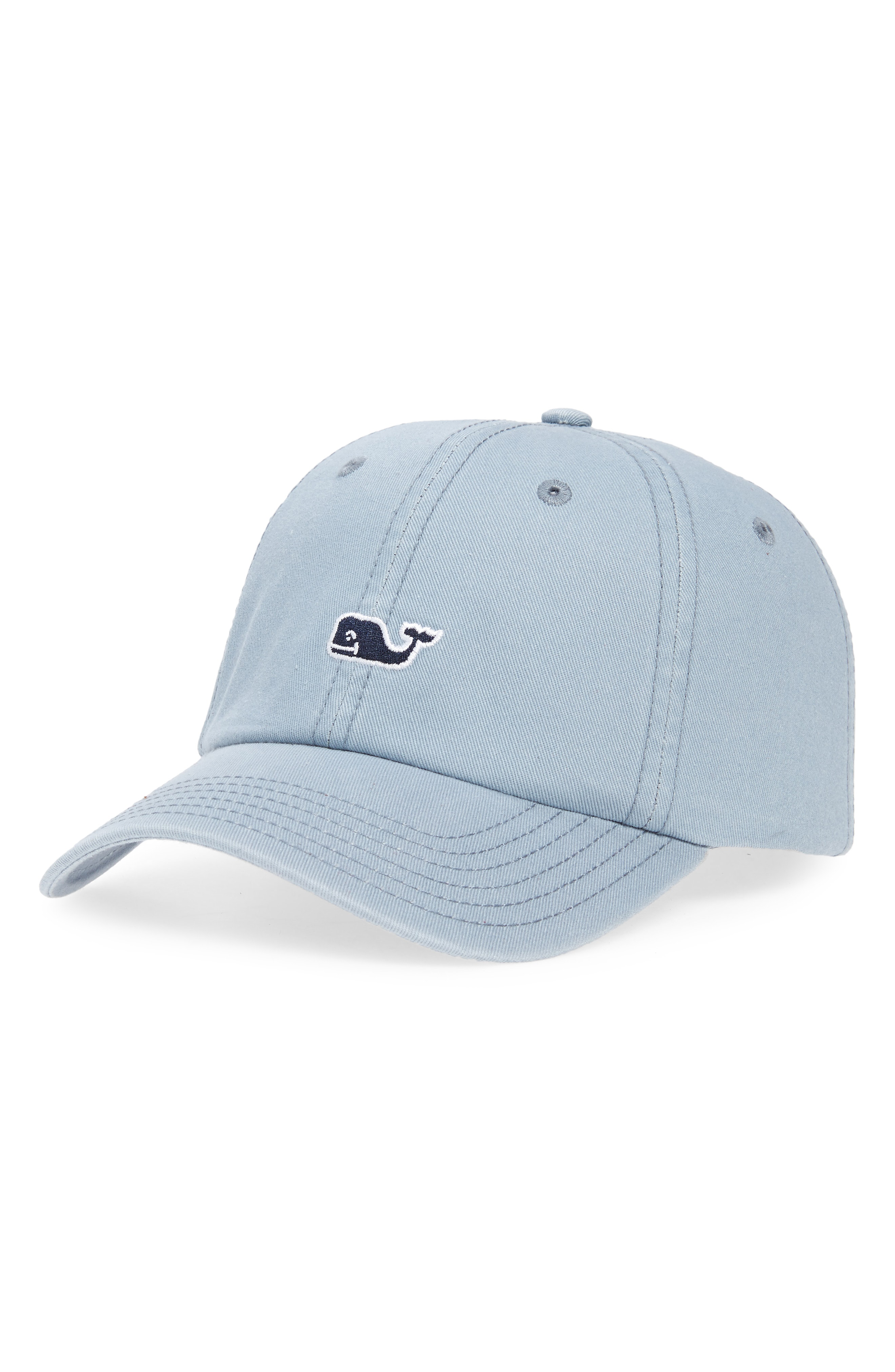 dc1a3d8ffeb Vineyard Vines Whale Logo Baseball Cap - Grey In Barracuda
