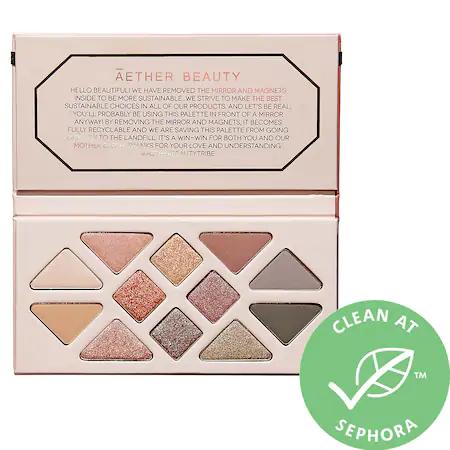 Aether Beauty Rose Quartz Crystal Gemstone Eye Palette - None