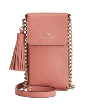 3c48d20e2c8f Kate Spade North/South Leather Smartphone Crossbody Bag - Pink In Mauve Rose