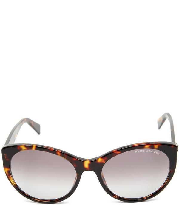3f337248a9 Marc Jacobs Oversized Rounded Cat-Eye Sunglasses In Brown