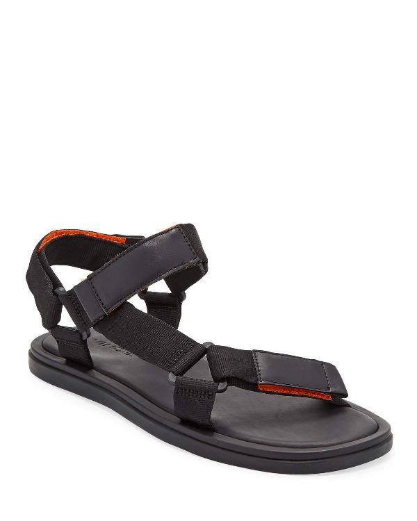 Vince Men's Destin Velcro Strap Walking Sandals In Black