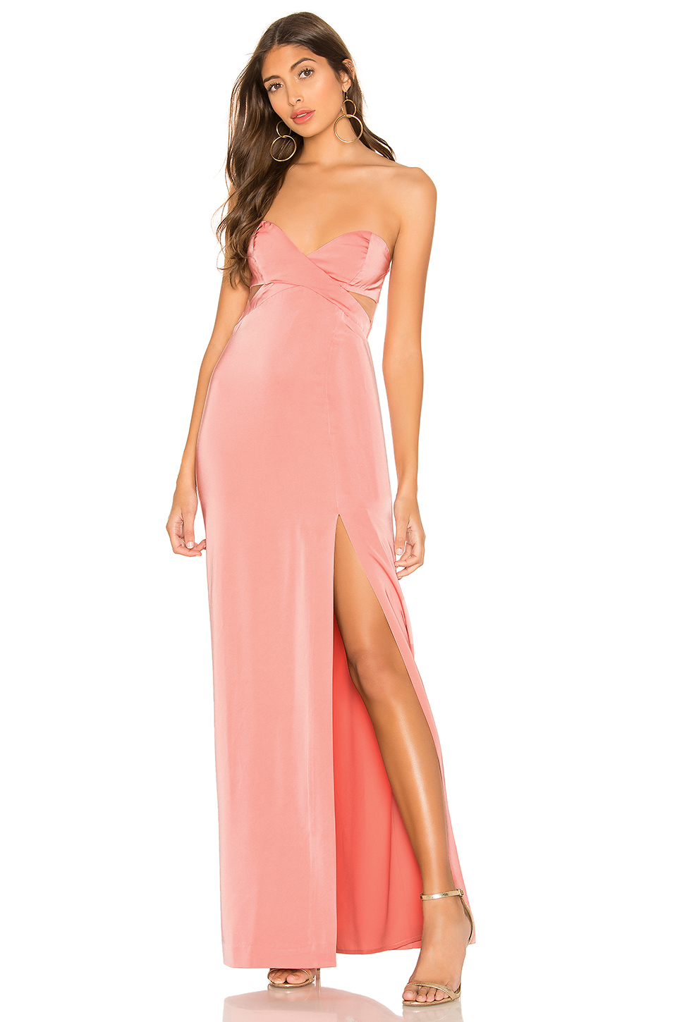 Lovers & Friends Darling Gown In Pink