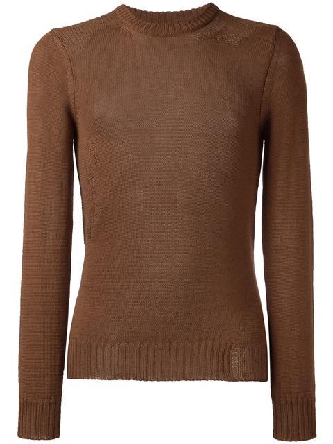 Maison Margiela Loose Knit Detail Sweater - Brown