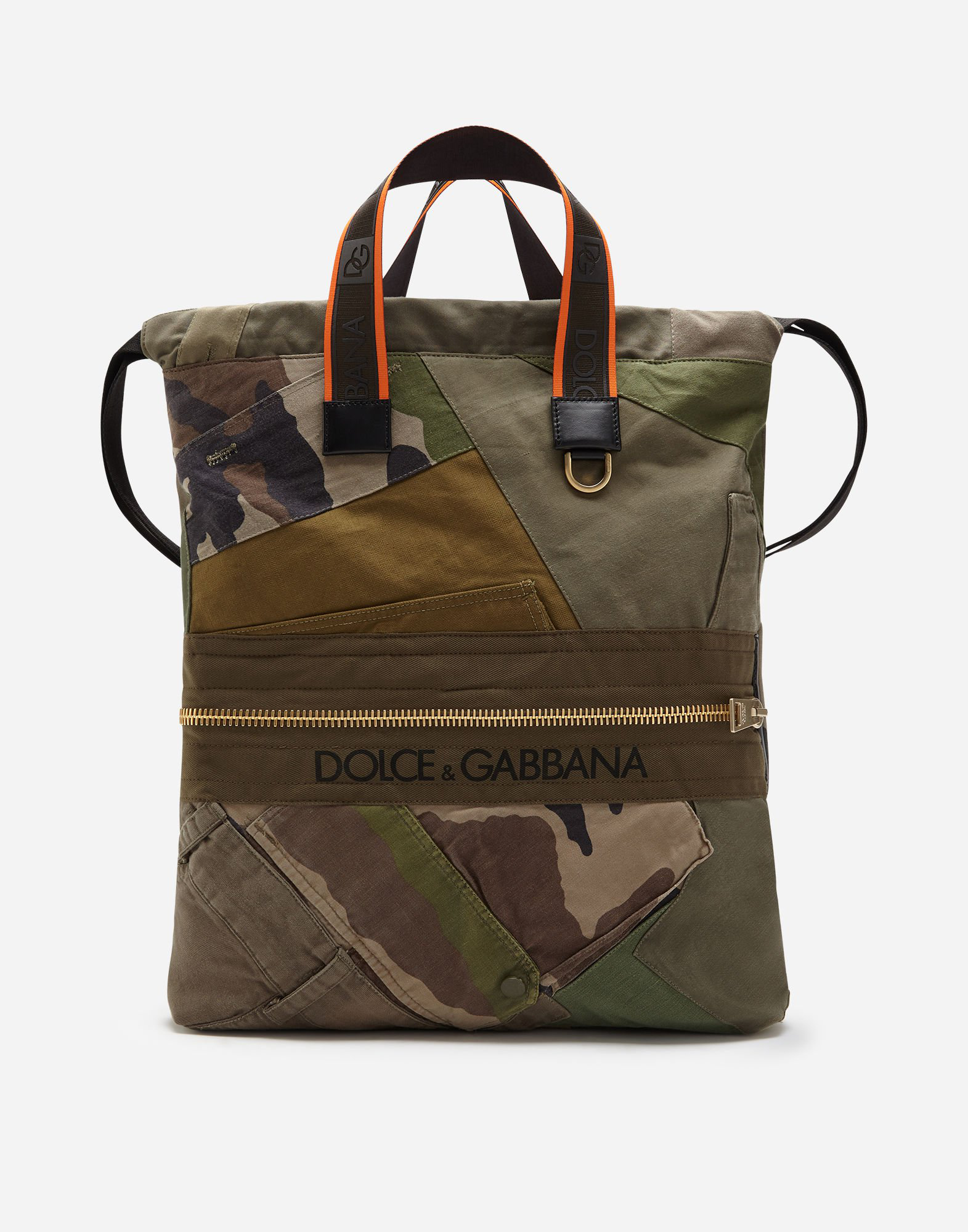 Dolce & Gabbana Military Patch Street Backpack In Green