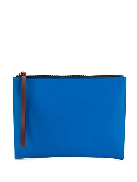 Marni Two Tone Clutch Bag In Blue