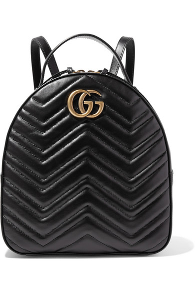 Gucci Gg Marmont 2.0 MatelassÉ Quilted Velvet Backpack In Black ... 2f8bad1fef010