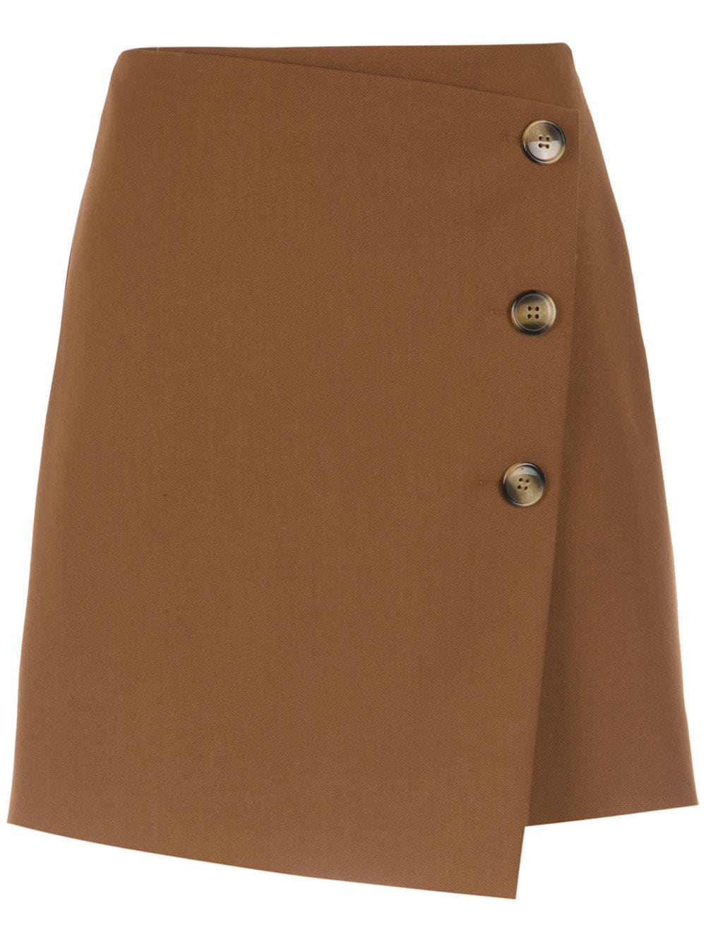 Nk Buttoned Mini Skirt In Brown